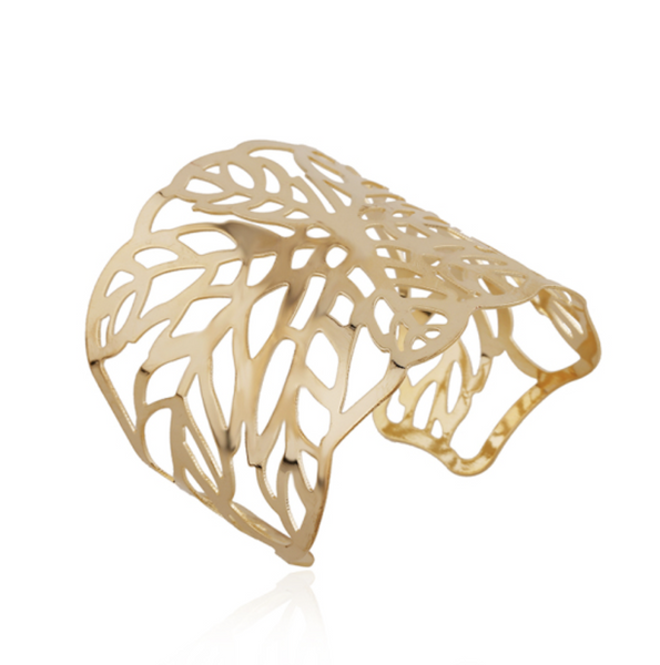 Fancy Gold Bangle - Alexis
