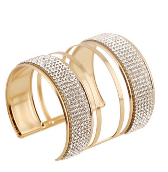Fancy Gold Bangle - Liza