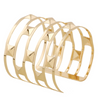 Fancy Gold or Silver Bangle - Brianna