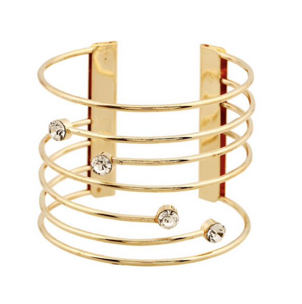 Fancy Gold or Silver Bangle - Dara