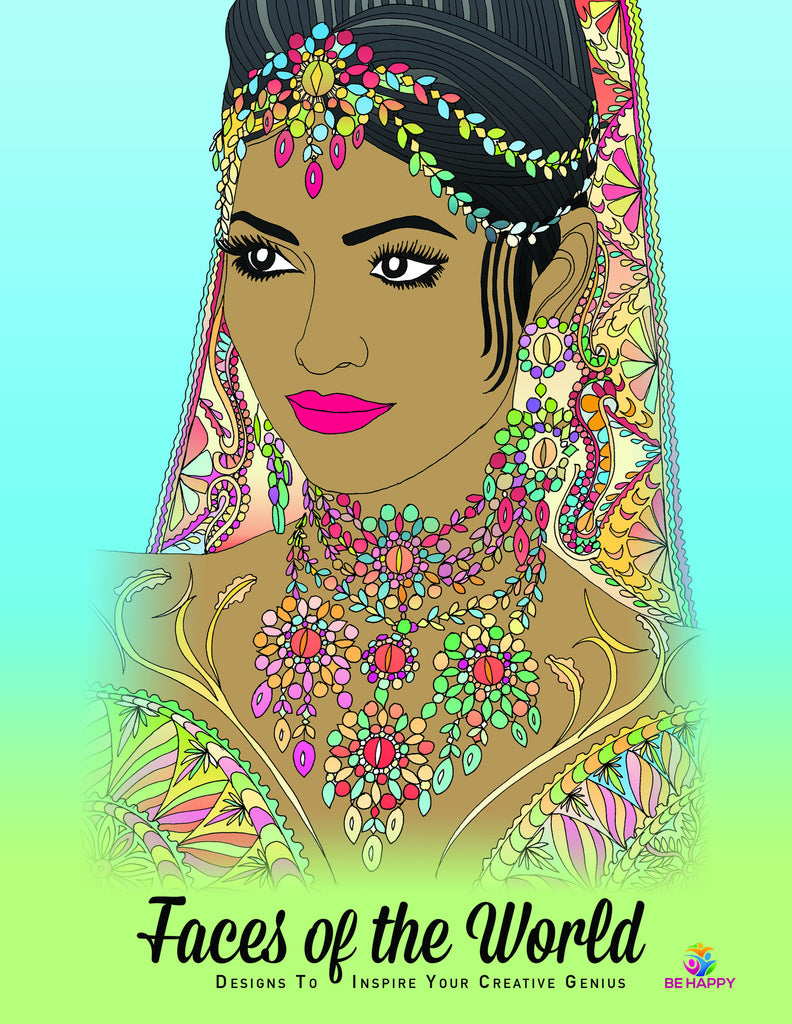The coloring book genius - Faces Of The World Adult Coloring Book