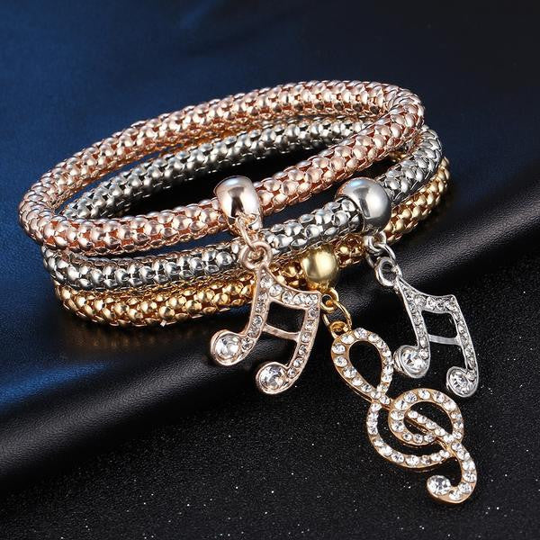 Glam Trio Bracelets - Music