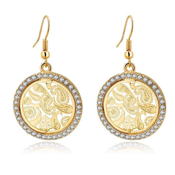 Devine Earrings - Gold Paisley