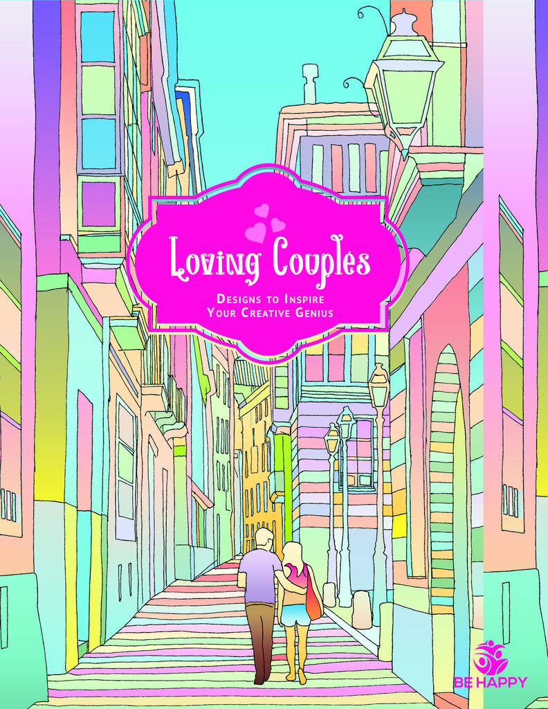 The coloring book genius - Loving Couples Adult Coloring Book