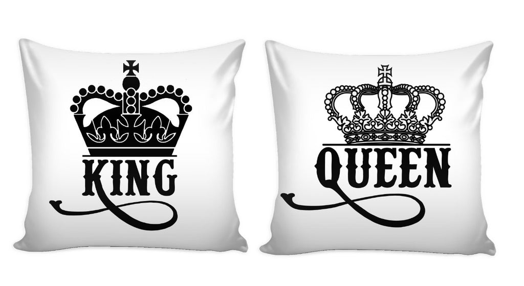 King and Queen Pillow Cover Set of 2