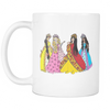 White Mug - Princess Friends Talking