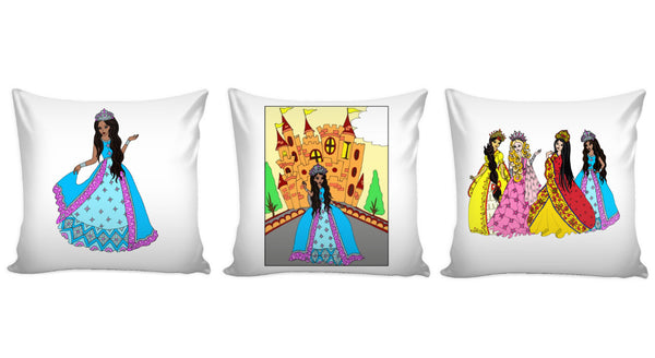 Princess Pillow Cover Set of 3