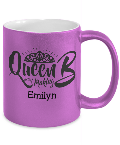Personalized Metalic Mug - Queen B in the Making