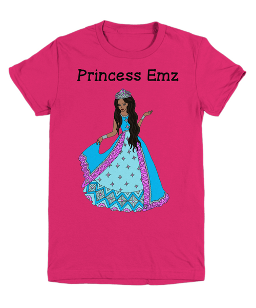 Personalized Youth Tee - African American Princess