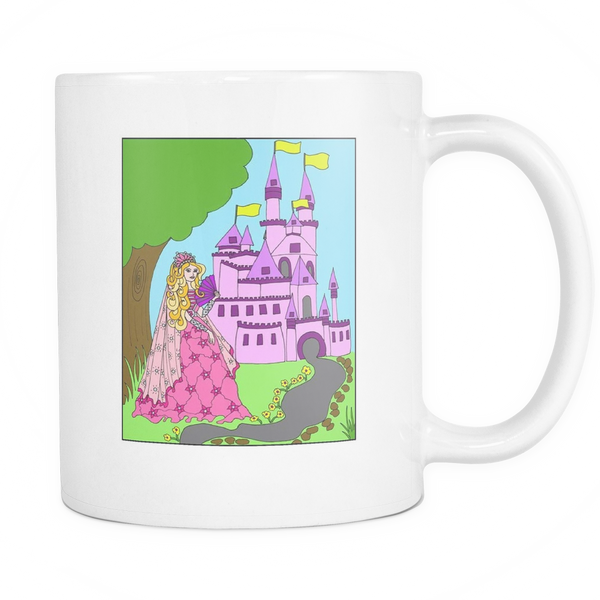 Princess Amber's Castle - White Mug