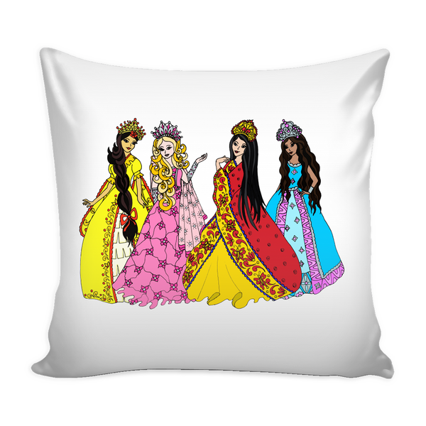 Pillow Cover - Princess Friends Talking