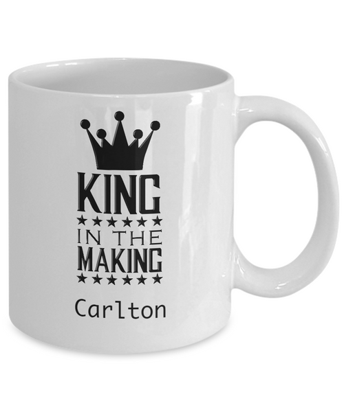 Personalized White Mug - King in the Making