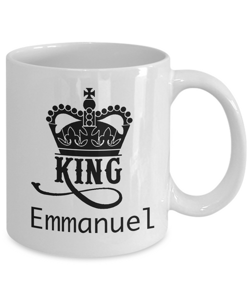 Personalized White Mug - King