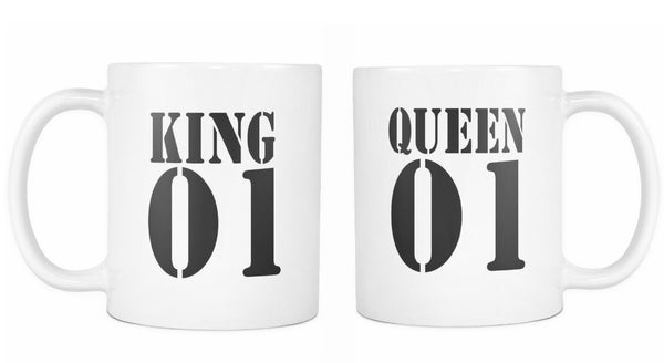 King and Queen White Mug Set of 2
