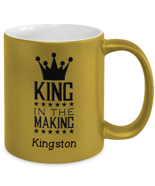 Personalized Metalic Mug - King in the Making