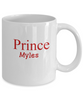 Personalized White Mug - Prince Text