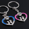 Casual Couple Love Keychain Cartoon for Valentines Gift