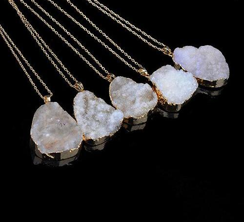 Crystal Quartz Chakra Necklace