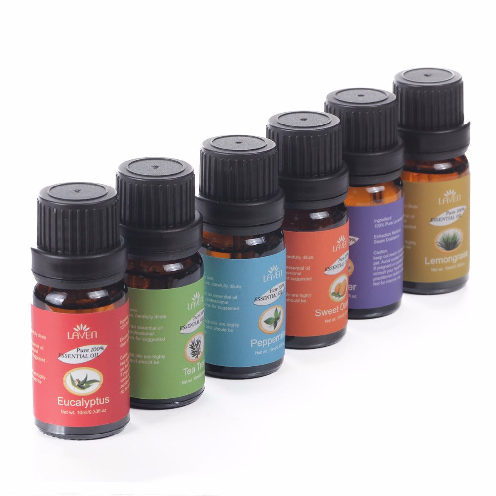 6 pcs/set 100% Pure 10 ml Essential Oils for Bath Massage and Spa Aromatherapy