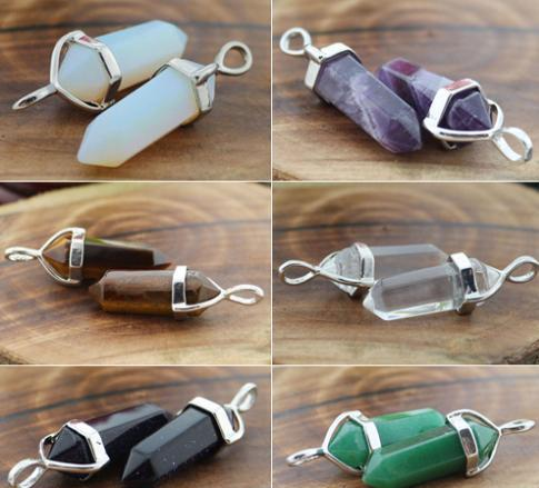 Crystal Healing Point Chakra Pendant Bead For Necklace
