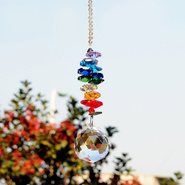 Glass Wind Chime Bell Hanging Ornament