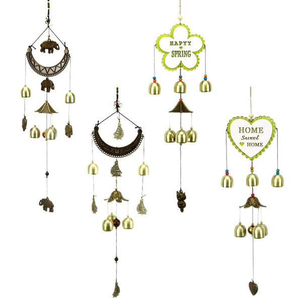 Wall Hanging Crescent Statue  Wind Chime Organize Home Decoration