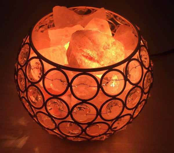 Round Shape Healthy Life Himalayan Natural Salt Lamp Light