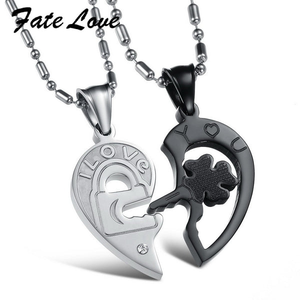 Fate Heart Pendant Couple Necklaces