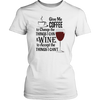 Womens Shirt - Coffee and Wine