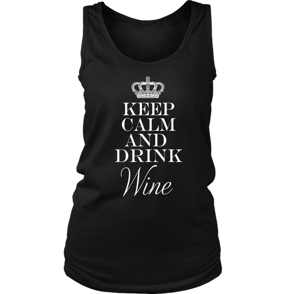 Womens Tank - Keep Calm and Drink Wine 02