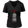 Womens V-Neck - I had to Rescue Some Wine 02