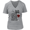 Womens V-Neck - Give Me Coffee and Wine