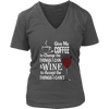 Womens V-Neck - Coffee and Wine 02