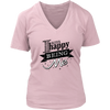 Womens V-Neck - I am Happy Being Me