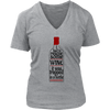 Womens V-Neck - I had to Rescue Some Wine