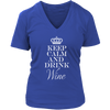 Womens V-Neck - Keep Calm and Drink Wine 02