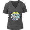 Womens V-Neck - Smile and the World smiles back at you