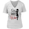 Womens V-Neck - Girls just Want to Have Wine