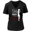 Womens V-Neck - Girls just Want to Have Wine 02