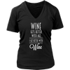 Womens V-Neck - Wine Gets Better with Age