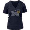 Womens V-Neck - I'm One Glass