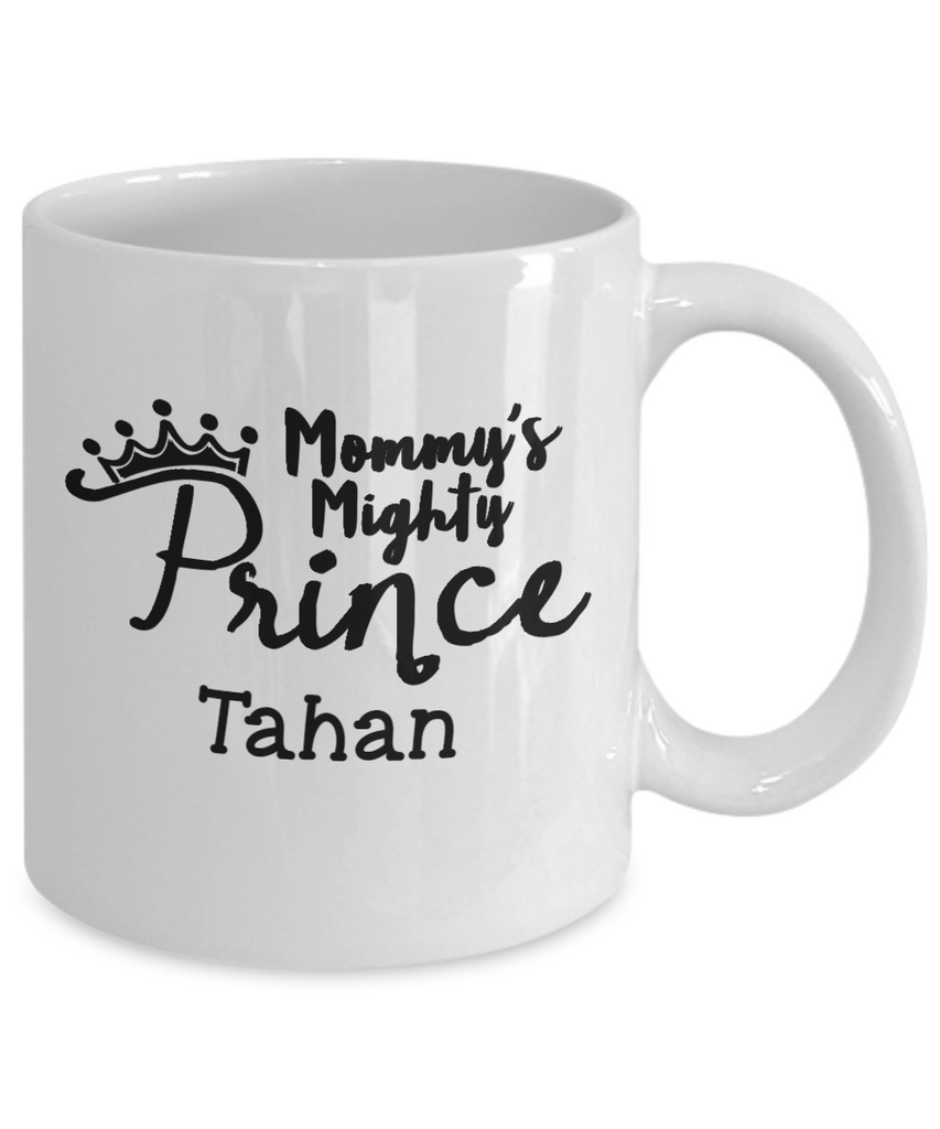 Personalized White Mug - Mommy's Mighty Prince