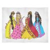 Fleece Blanket - Princess Friends Talking