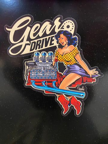 Gear Drive Stickers