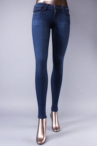 3D RESIN SOFT WASH DENIM SKINNY JEANS