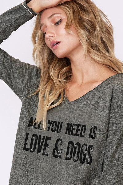 All You Need Is Love & Dogs Tee