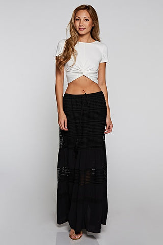 Crochet Lace Maxi Skirt