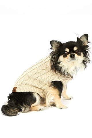CC Solid Knitted Dog Sweater