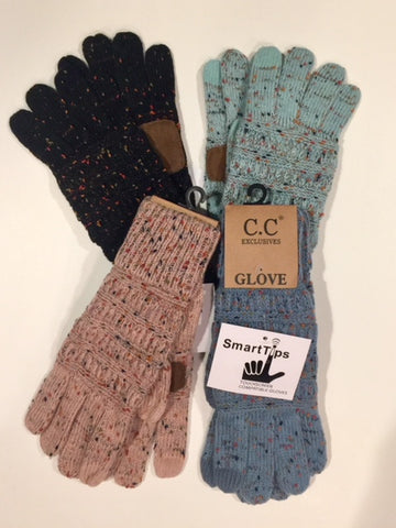 CC Brand Smart Tip Confetti Gloves