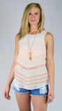 Sheer Chiffon Ombre Tank Top